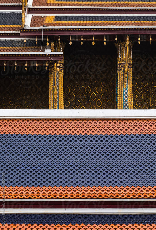 Detail of the roofs on Golden Temple in Grand palace.  by Marko Milanovic for Stocksy United