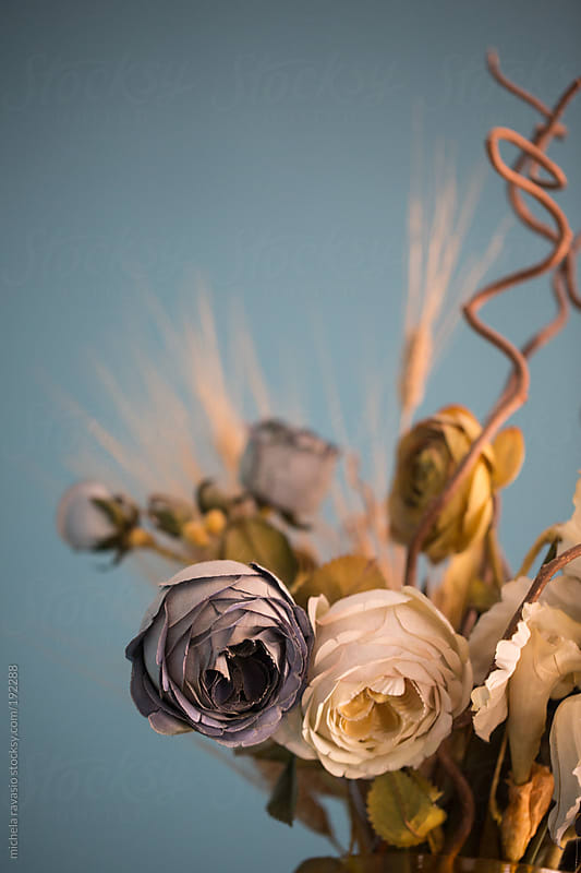 Detail of vase of flowers by michela ravasio for Stocksy United