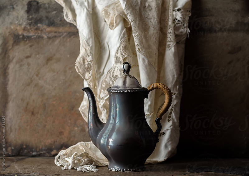 Antique Coffee Pot in Rustic setting by Studio Six for Stocksy United