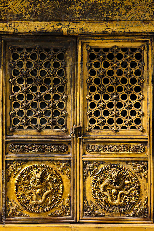 Forbidden City. Palace Door detail, Beijing, China by Mental Art + Design for Stocksy United