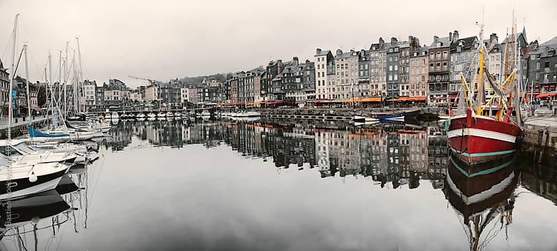 Honfleur harbour in Normandy, France by Ivan Bastien for Stocksy United