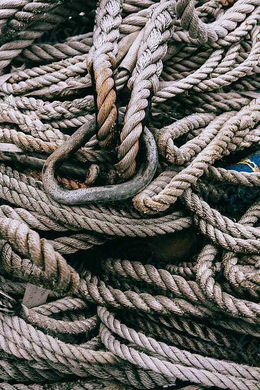 Rope on Maine Wharf by Raymond Forbes LLC for Stocksy United