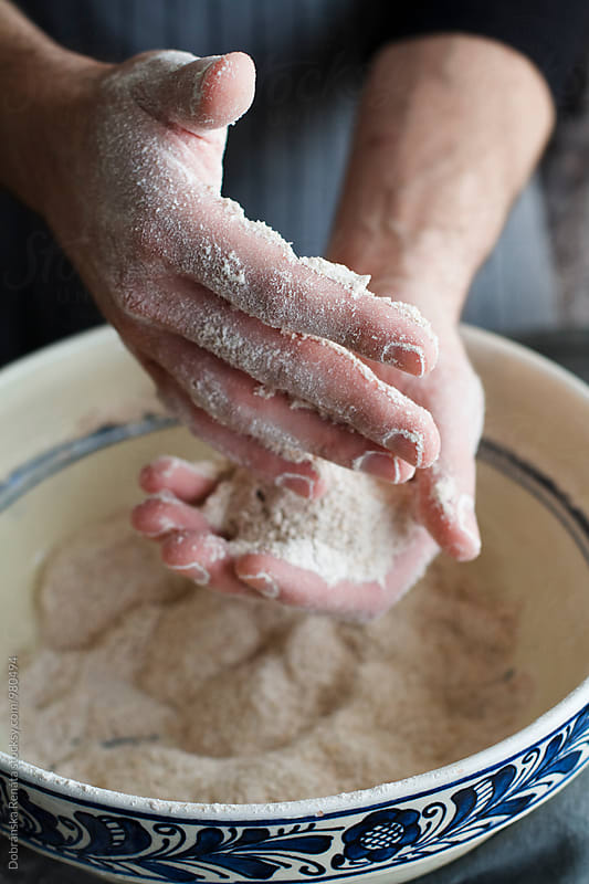 Wholemeal bread being made by Dobránska Renáta for Stocksy United