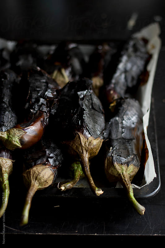 Roasted eggplants by Noemi Hauser for Stocksy United
