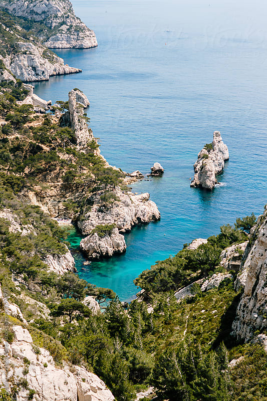 Calanques near Marseille and Cassis in south of France by Kristen Curette Hines for Stocksy United