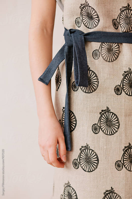 Apron with bicycle print by Sergey Filimonov for Stocksy United
