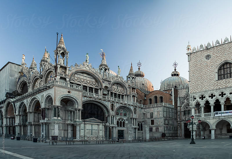 St. Marks Basilica and the Doge´s Palace on the famous St. Marks Square by Leander Nardin for Stocksy United