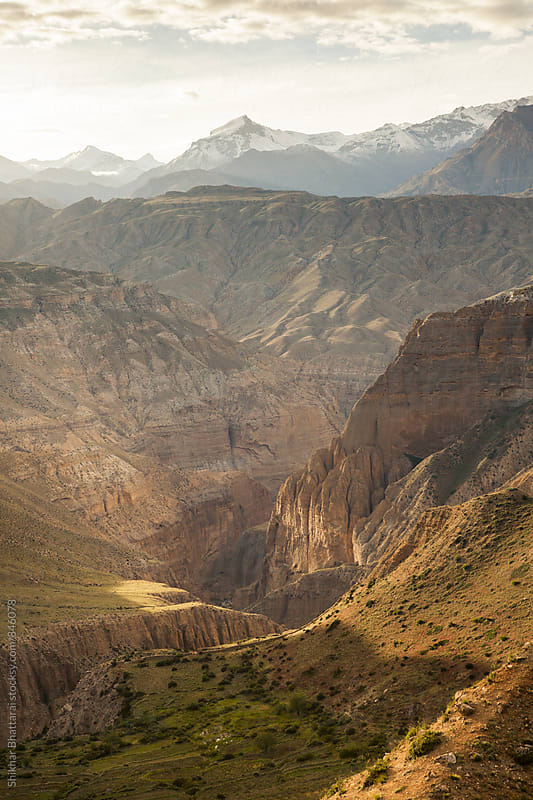 Canyons of Upper Mustang. by Shikhar Bhattarai for Stocksy United