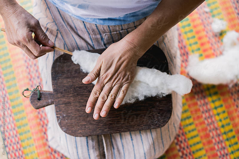 Handicraft Indigo Fabric by Chalit Saphaphak for Stocksy United