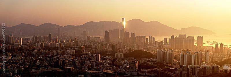 The Beam of Hong Kong by Jason Denning for Stocksy United