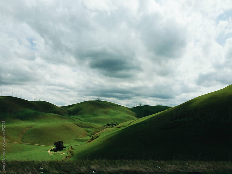 Rolling green hills of California by Jesse Morrow for Stocksy United