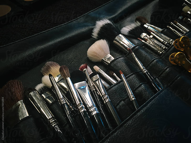 Professional make-up brush set by Claudia Lommel for Stocksy United