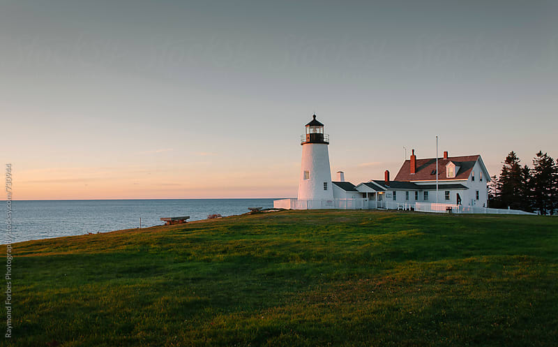 Pemaquid Point Lighthouse Bristol, Maine by Raymond Forbes LLC for Stocksy United