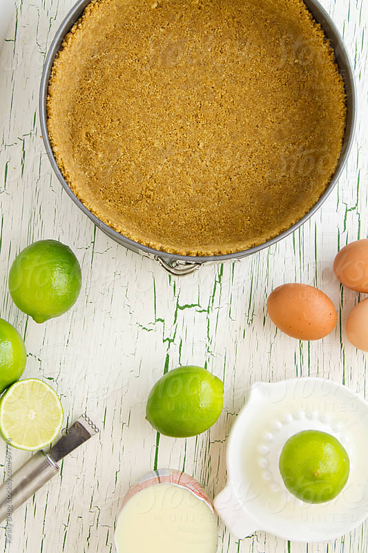 Pie crust with baking ingredients by Kirsty Begg for Stocksy United