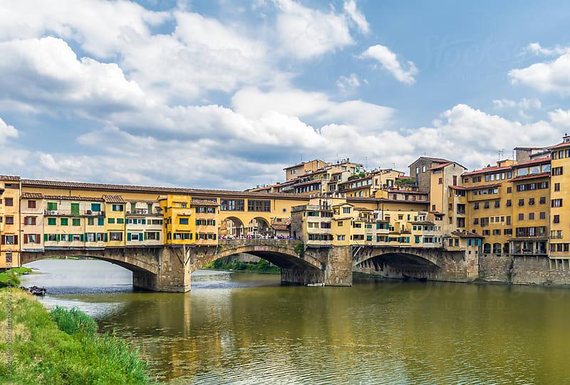 Ponte Vecchio over the river Arno by Leander Nardin for Stocksy United