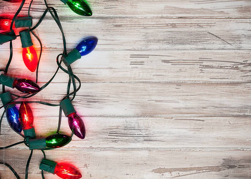 Holidays: Multi-Colored Christmas Light Background by Sean Locke for Stocksy United