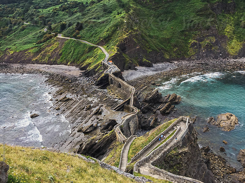 Road to San Juan de Gaztelugatxe (view from above) by Luca Pierro for Stocksy United