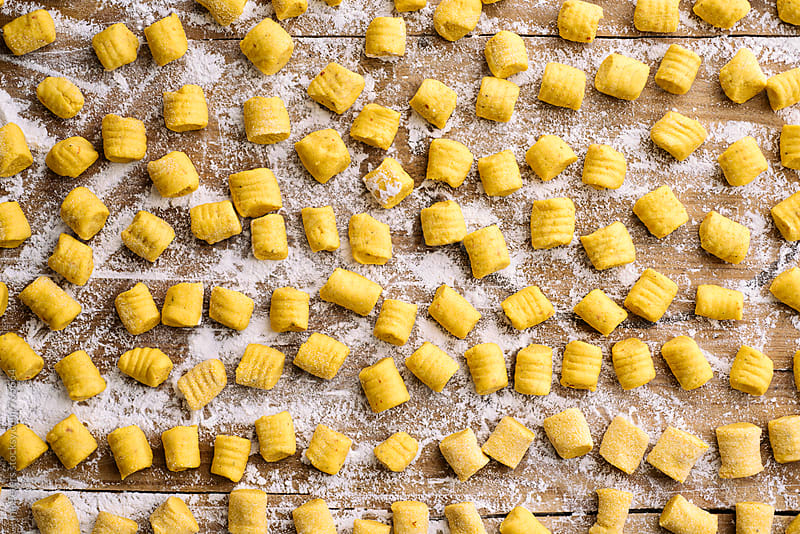 Food: Homemade Pumpkin Gnocchi by Ina Peters for Stocksy United
