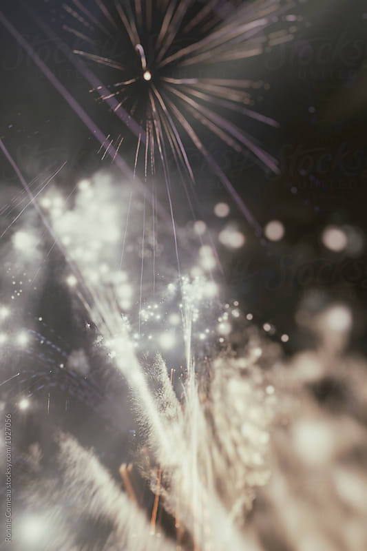 Fireworks Background Double Exposure by Ronnie Comeau for Stocksy United