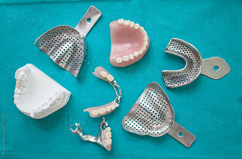 Dental instruments for making dentures.  by Mosuno for Stocksy United