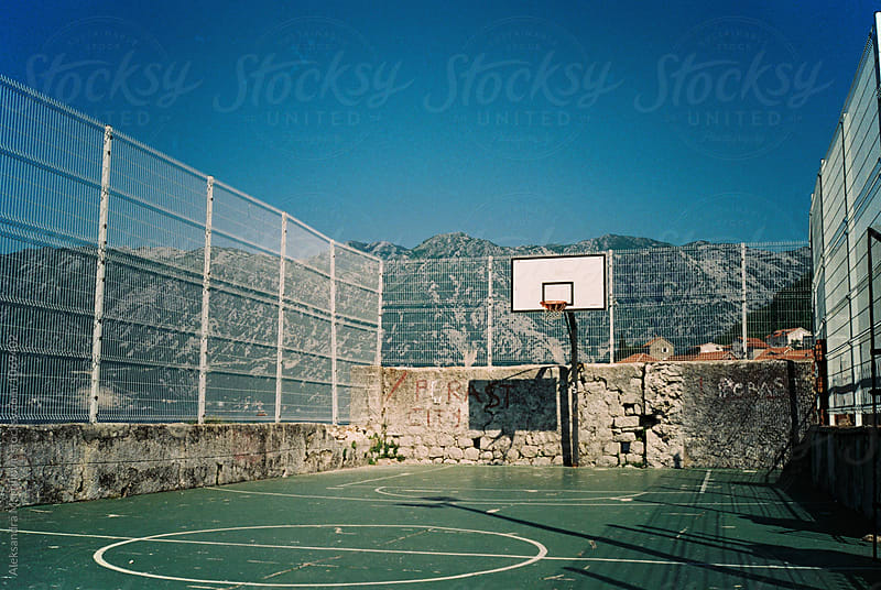 Basketball court by Aleksandra Martinovic for Stocksy United