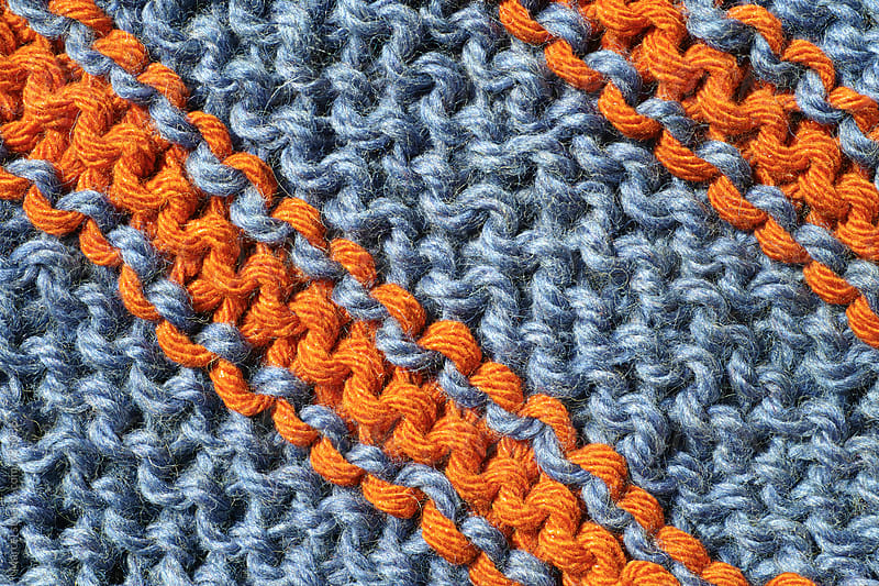 Detail of knitwear of a shawl by Marcel for Stocksy United