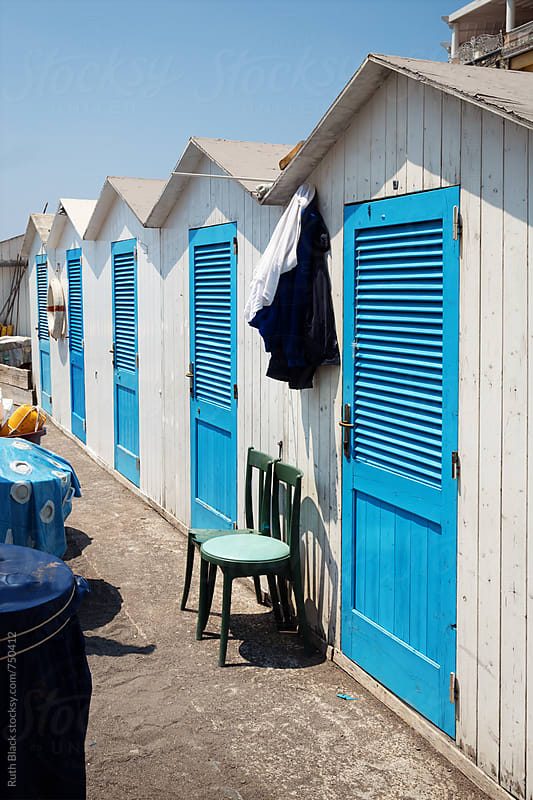 Beach huts by Ruth Black for Stocksy United