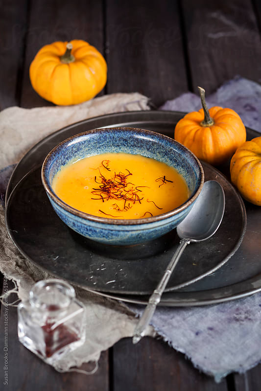 Pumpkin soup by Susan Brooks-Dammann for Stocksy United