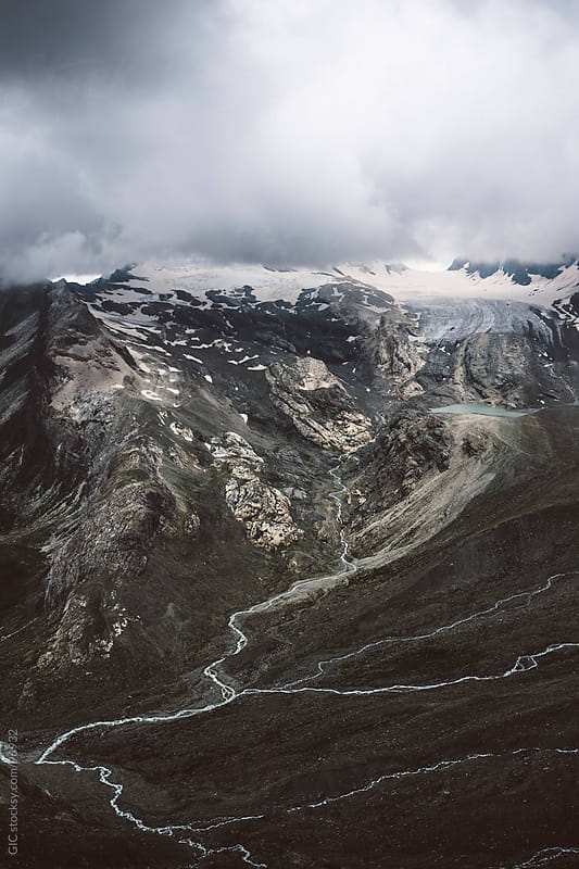 Glacier on the mountain peak by GIC for Stocksy United