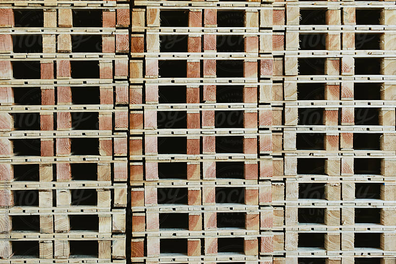 Wooden pallets pattern by Laura Stolfi for Stocksy United