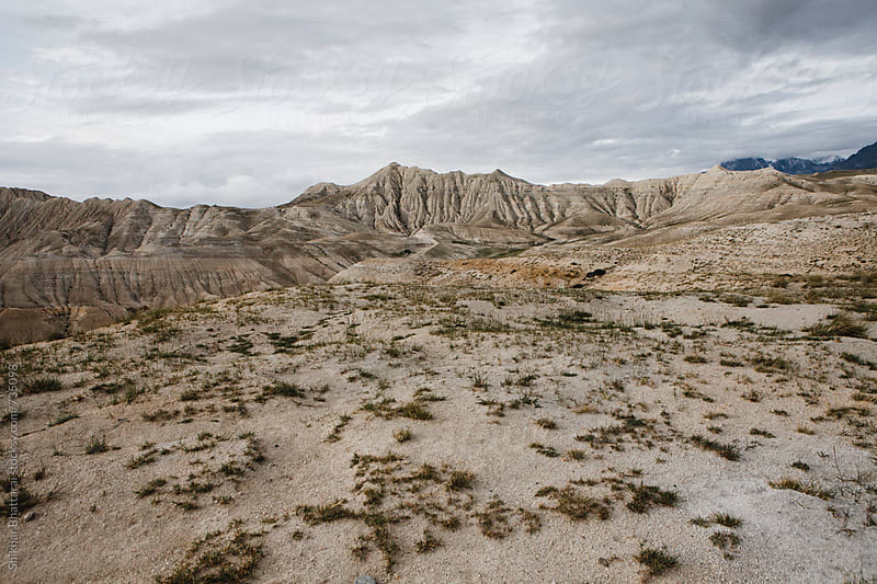 Dry, desolated landscape of Upper Mustang, Nepal. by Shikhar Bhattarai for Stocksy United
