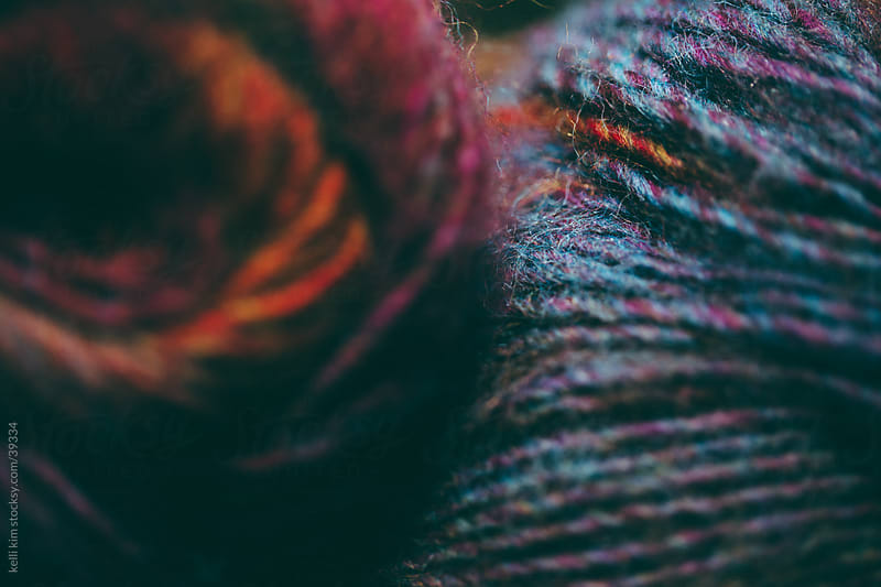 Closeup Of Skeins Of Soft Multicolored Yarns by kelli kim for Stocksy United