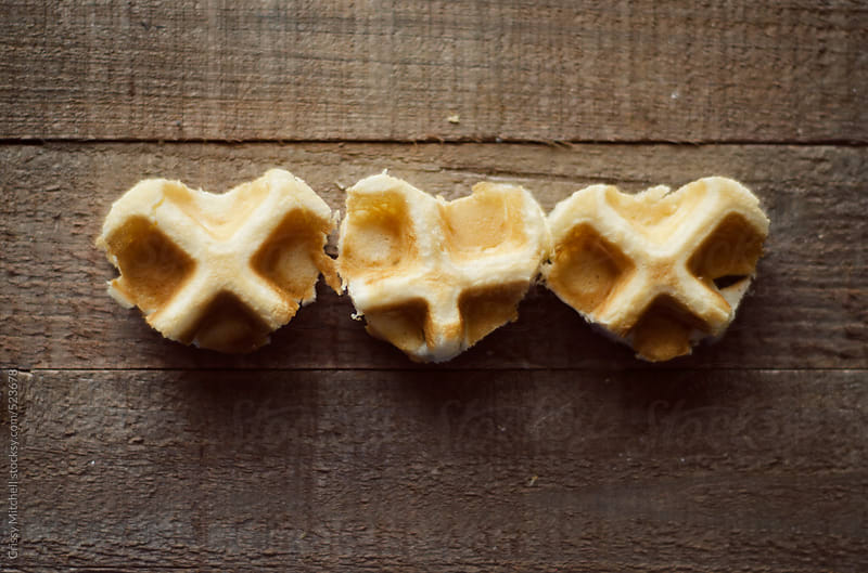 I heart waffles by Crissy Mitchell for Stocksy United