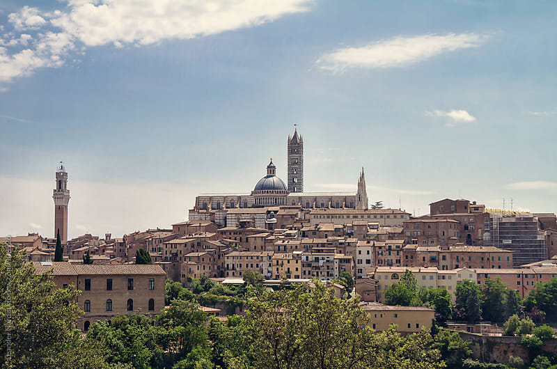 Siena Cityscape by Leander Nardin for Stocksy United