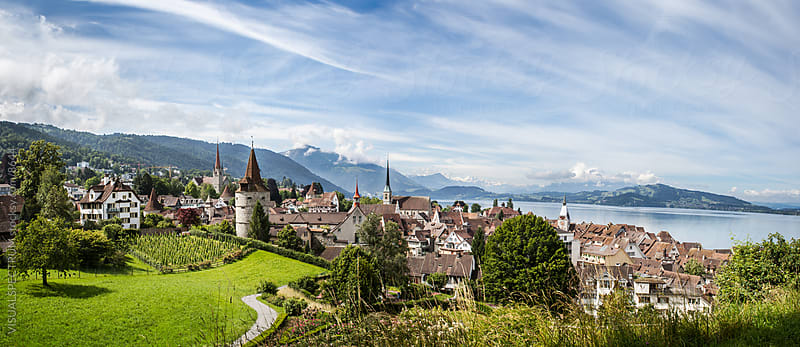 City of Zug (Central Switzerland) by VISUALSPECTRUM for Stocksy United