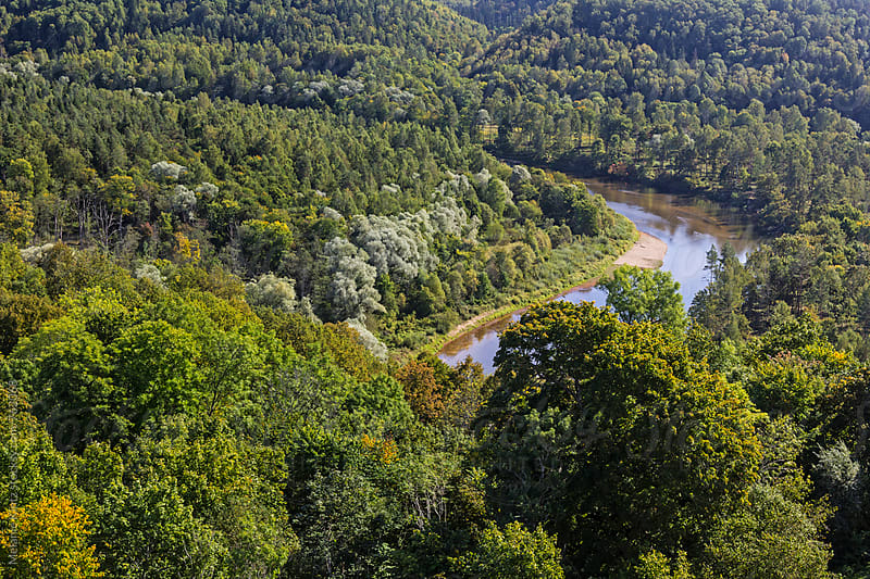 Gauja river runs through the national park by Melanie Kintz for Stocksy United