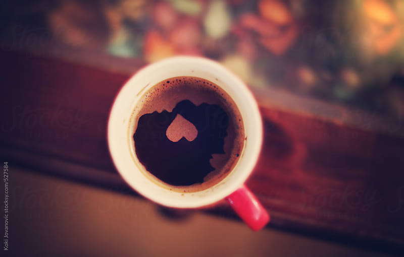 heart in coffee cup by Koki Jovanovic for Stocksy United