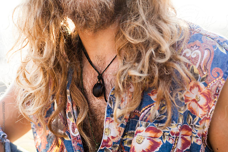 Close up of a young male hippie. by Marija Savic for Stocksy United