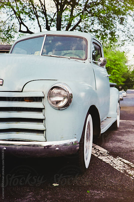 Classic Baby Blue Truck by Cameron Whitman for Stocksy United