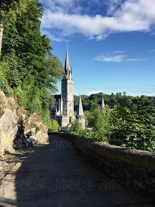 The Cathedral of Lourdes in a sunny morning by Luca Pierro for Stocksy United