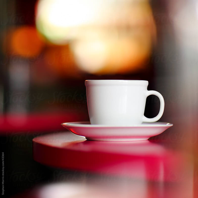 White Coffee Cup in Fuchsia Cafe by Stephen Morris for Stocksy United