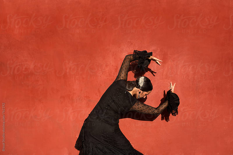 Flamenco dancer performing in Granada by Bisual Studio for Stocksy United