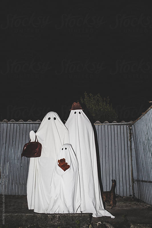 Portrait of family ghosts by michela ravasio for Stocksy United