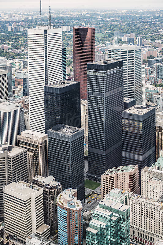 Toronto From The CN Tower by Cameron Whitman for Stocksy United