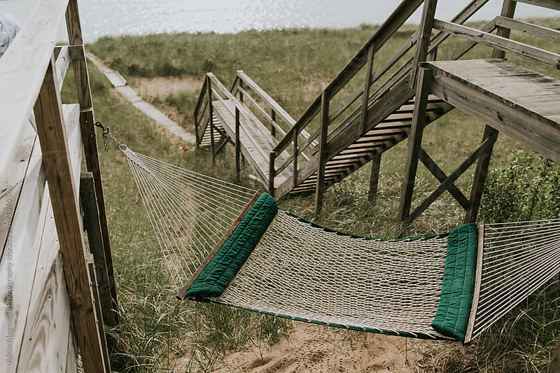Hammock Overlooking Lake Michigan by Alicia Magnuson Photography for Stocksy United