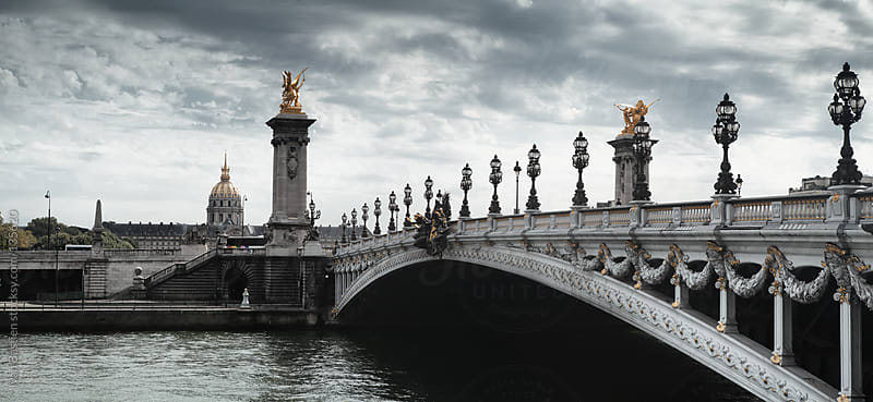 Alexandre III Bridge and the Invalides in Paris, France by Ivan Bastien for Stocksy United