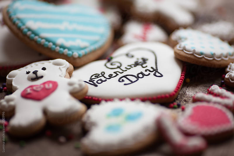 Valentine's Day Cookies by Lumina for Stocksy United