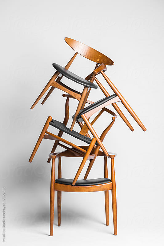 Four chairs by Maa Hoo for Stocksy United