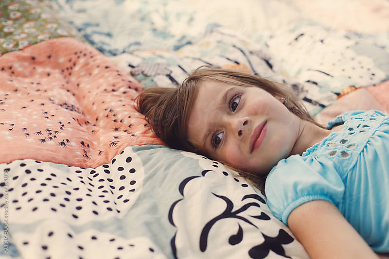 Girl On A Blanket by ALICIA BOCK for Stocksy United