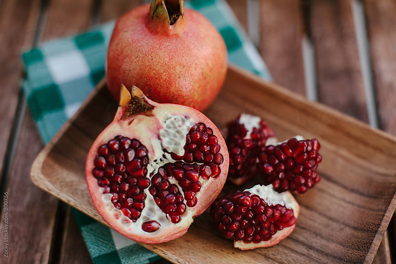 Juicy pomegranates by Zocky for Stocksy United